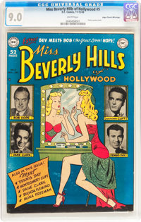 Miss Beverly Hills of Hollywood #5 Mile High pedigree (DC, 1949) CGC VF/NM 9.0 White pages