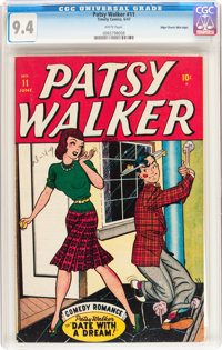 Patsy Walker #11 Mile High pedigree (Atlas, 1947) CGC NM 9.4 White pages