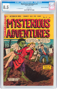 Mysterious Adventures #4 Mile High pedigree (Story Comics, 1951) CGC VF+ 8.5 White pages
