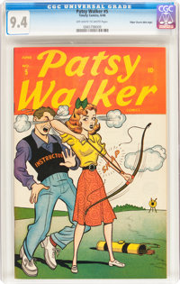 Patsy Walker #5 Mile High pedigree (Atlas, 1946) CGC NM 9.4 Off-white to white pages