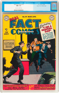 Real Fact Comics #19 Mile High pedigree (DC, 1949) CGC NM+ 9.6 Off-white to white pages