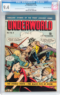 Underworld #8 Mile High pedigree (D.S. Publishing, 1949) CGC NM 9.4 Off-white to white pages