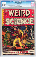 Golden Age (1938-1955):Science Fiction, Weird Science #10 Mile High pedigree (EC, 1951) CGC VF 8.0Off-white to white pages....