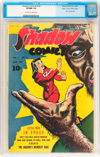 Shadow Comics V4#3 Mile High pedigree (Street & Smith, 1944) CGC VF/NM 9.0 Off-white to white pages