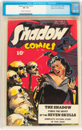 Golden Age (1938-1955):Adventure, Shadow Comics V4#7 Mile High pedigree (Street & Smith, 1944) CGC VF- 7.5 Off-white to white pages....