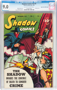 Shadow Comics V6#6 Mile High pedigree (Street & Smith, 1946) CGC VF/NM 9.0 Off-white to white pages