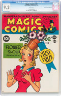 Golden Age (1938-1955):Humor, Magic Comics #25 Mile High pedigree (David McKay Publications, 1941) CGC NM- 9.2 White pages....