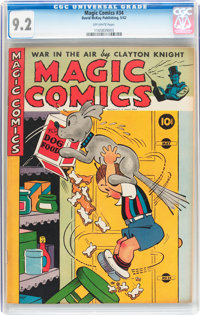 Magic Comics #34 (David McKay Publications, 1942) CGC NM- 9.2 Off-white pages