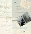 Autographs:Authors, Religious Figures and Writers. Group of Autograph and Typed Letters Signed. Includes Bertram Korn, Thomas Wentworth Higginso...