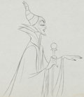 Animation Art:Production Drawing, Sleeping Beauty Matching set of Maleficent and DiabloProduction Drawings Animation Art Group (Walt Disney, 1959)....(Total: 2 Original Art)