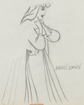 Animation Art:Production Drawing, Sleeping Beauty Briar Rose (signed by Marc Davis) and MockPrince Production Drawing Animation Art Group (Walt Disney,...(Total: 2 Original Art)