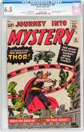 Silver Age (1956-1969):Superhero, Journey Into Mystery #83 (Marvel, 1962) CGC FN+ 6.5 Off-white to white pages....