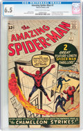 Silver Age (1956-1969):Superhero, The Amazing Spider-Man #1 (Marvel, 1963) CGC FN+ 6.5 Cream to off-white pages....