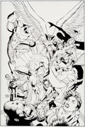 Original Comic Art:Covers, Ian Churchill and Norm Rapmund Justice League of America #15Cover Original Art (DC, 2008)....