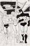 Original Comic Art:Splash Pages, John Byrne Superman and Batman: Generations #4 Page 48Original Art (DC, 1999)....