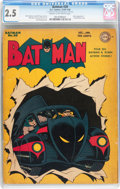 Golden Age (1938-1955):Superhero, Batman #20 (DC, 1943) CGC GD+ 2.5 Cream to off-white pages....
