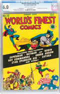 Golden Age (1938-1955):Superhero, World's Finest Comics #10 (DC, 1943) CGC FN 6.0 Off-white to white pages....