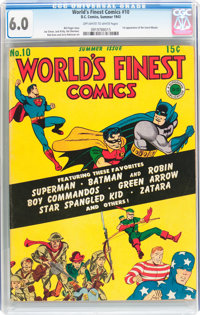 World's Finest Comics #10 (DC, 1943) CGC FN 6.0 Off-white to white pages