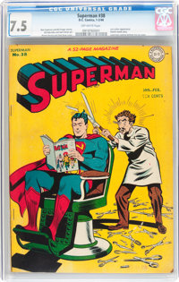 Superman #38 (DC, 1946) CGC VF- 7.5 Off-white pages