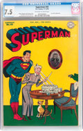 Golden Age (1938-1955):Superhero, Superman #43 (DC, 1946) CGC VF- 7.5 Off-white to white pages....