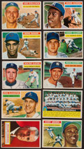 Baseball Cards:Lots, 1956 Topps Baseball Collection With Aaron and Killebrew (140). ...