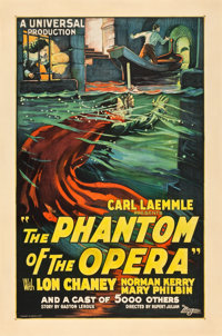 "The Phantom of the Opera (Universal, 1925). One Sheet (27"" X 41"")"