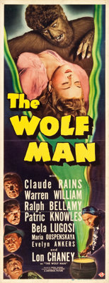 "The Wolf Man (Universal, 1941). Insert (14"" X 36"")"