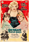 "Movie Posters:Comedy, Some Like It Hot (CB/United Artists, 1963). Spanish One Sheet(27.5"" X 39"").. ..."