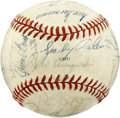Autographs:Baseballs, 1975 World Series Champion Cincinnati Reds Team Signed Baseball.The 1975 World Series was won by the Cincinnati Reds in s...