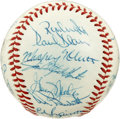 Autographs:Baseballs, 1977 New York Yankees World Champion Team Signed Baseball. TheWorld Series Champs check in here with 23 signatures on the ...