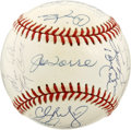 Autographs:Baseballs, 2000 New York Yankees Team Signed Baseball. The 2000 New YorkYankee team defeated the New York Mets in the fall classic to...
