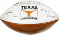 """Football Collectibles:Balls, Mack Brown """"Hook 'Em"""" Single Signed Football. University of Texas head coach Mack Brown led his team to a national champion..."""