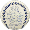 Autographs:Baseballs, 1998 New York Yankees Team Signed Baseball. The World ChampionshipYankees turn out in force (twenty-three autographs in al...