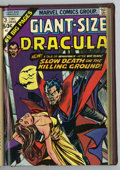 Bronze Age (1970-1979):Horror, Giant-Size Dracula #1-5 Partial Issues Bound Volume (Marvel,1974-76)....