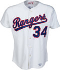 Baseball Collectibles:Uniforms, 1993 Nolan Ryan Win #323 Game Worn Texas Rangers Jersey with Ryan Letter....