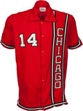Basketball Collectibles:Uniforms, Early 1970's Clifford Ray Game Worn Chicago Bulls ShootingShirt....