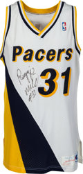 Basketball Collectibles:Uniforms, 1990-91 Reggie Miller Game Worn Indiana Pacers Jersey....