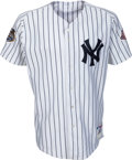 Baseball Collectibles:Uniforms, 2003 Derek Jeter World Series Game Worn New York Yankees Jersey....