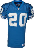 Football Collectibles:Uniforms, 1998 Barry Sanders Game Worn Detroit Lions Jersey & Pants, MEARS A10....