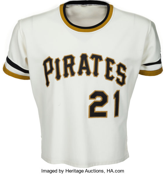 best service f620f a8c43 1971-72 Roberto Clemente Game Worn Pittsburgh Pirates Jersey ...