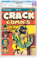 Golden Age (1938-1955):Superhero, Crack Comics #25 Mile High pedigree (Quality, 1942) CGC NM 9.4 Off-white to white pages....