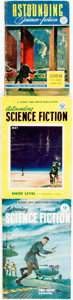 Books:Pulps, [Pulps]. Three Issues of Astounding Science Fiction.1943-1953. Publisher's printed wrappers. Toning and edgewear, w...(Total: 3 Items)