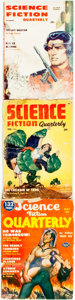 Books:Pulps, [Pulps]. Three Issues of Science Fiction Quarterly.1954-1956. Publisher's printed wrappers. Dampstaining, toning an...(Total: 3 Items)