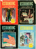 Books:Pulps, [Pulps]. Four Issues of Astounding Science Fiction.1942-1943. Publisher's printed wrappers. Toning and edgewear, wi...(Total: 4 Items)