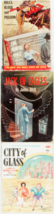 Books:Pulps, [Pulps]. Group of Three Various Titles. 1953-1955.Publisher's printed wrappers. Dampstaining, toning and edgewear,... (Total: 3 Items)