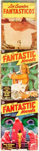 Books:Pulps, [Pulps]. Two Issues of Fantastic Novels. 1949. One Issue ofLos Cuentos Fantasticos. 1951. Publisher's p... (Total: 3Items)