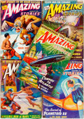 Books:Pulps, [Pulps]. Five Issues of Amazing Stories. 1941. Publisher'sprinted wrappers. Toning and edgewear, with some loss. Ve...(Total: 5 Items)