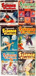 Books:Pulps, [Pulps]. Six Issues of Dynamic Science Fiction. 1952-1954.Publisher's printed wrappers. Toning and edgewear, with s...(Total: 6 Items)