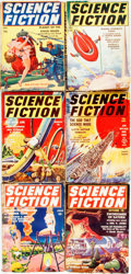 Books:Pulps, [Pulps]. Six Issues of Science Fiction. 1939-1940.Publisher's printed wrappers. Toning and edgewear, with someloss... (Total: 6 Items)