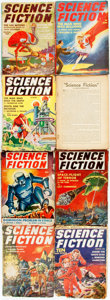 Books:Pulps, [Pulps]. Eight Issues of Science Fiction. 1940-1943. Publisher's printed wrappers. Toning and edgewear, with some lo... (Total: 8 Items)